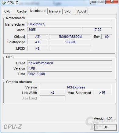 Mainboard im HP DV2