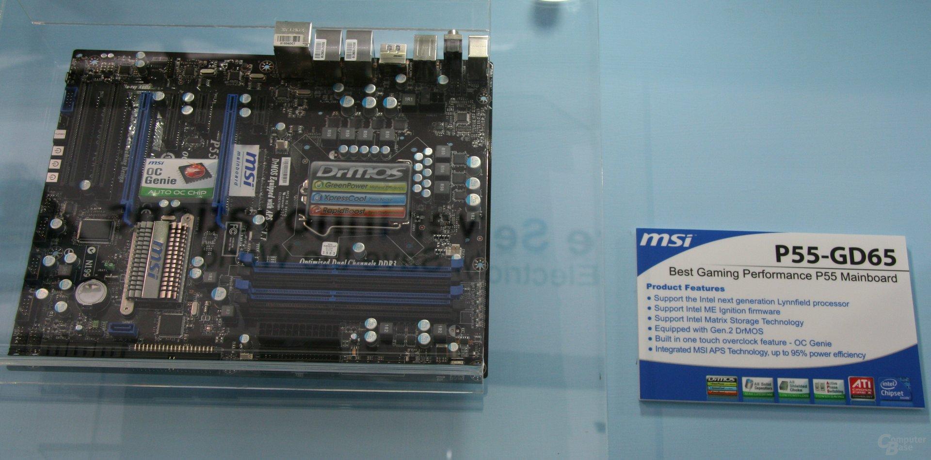 MSI-Mainboards für Lynnfield auf der Computex