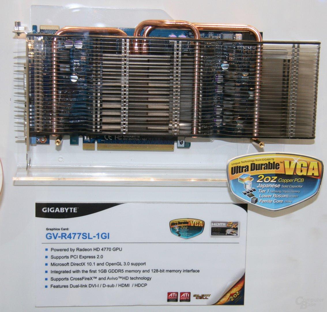 Passive Gigabyte GV-R477SL-1GI mit 1 GB VRAM