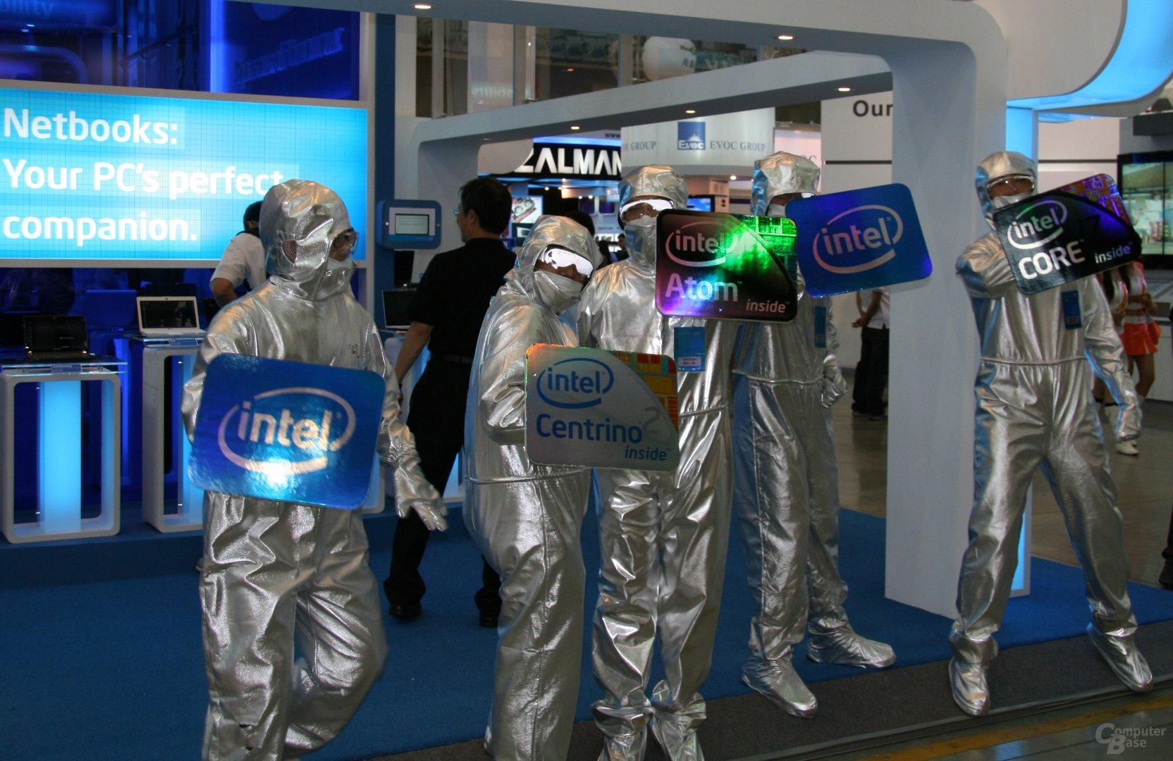 Intels Truppe für die Show