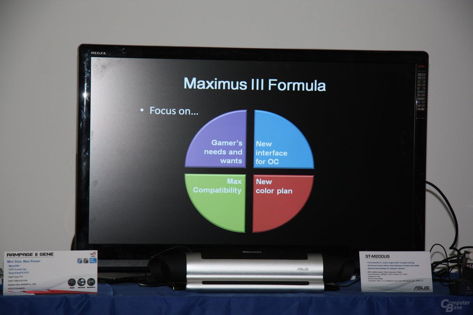 """Asus Maximus III Formula """"Special Features"""""""