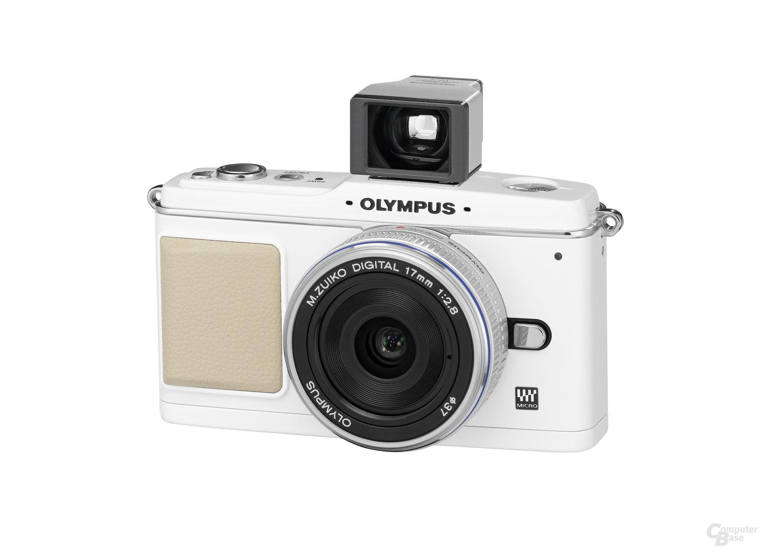 Olympus E-P1 mit 17 mm 1:2,8 und optischem Sucher
