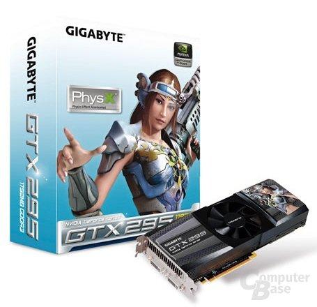 Gigabyte GeForce GTX 295 mit einem PCB