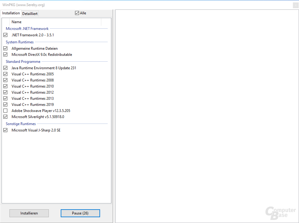 All in One Runtimes - Installation