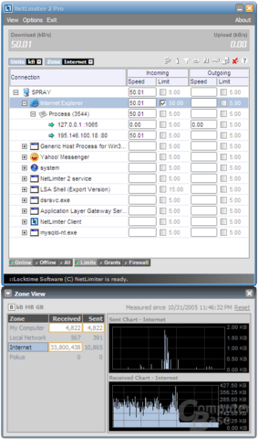 NetLimiter 2 limiting Internet Explorer