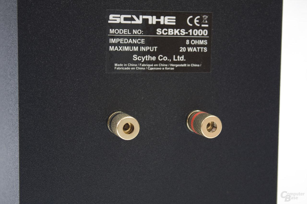 Schraubanschlüsse an den Lautsprechern