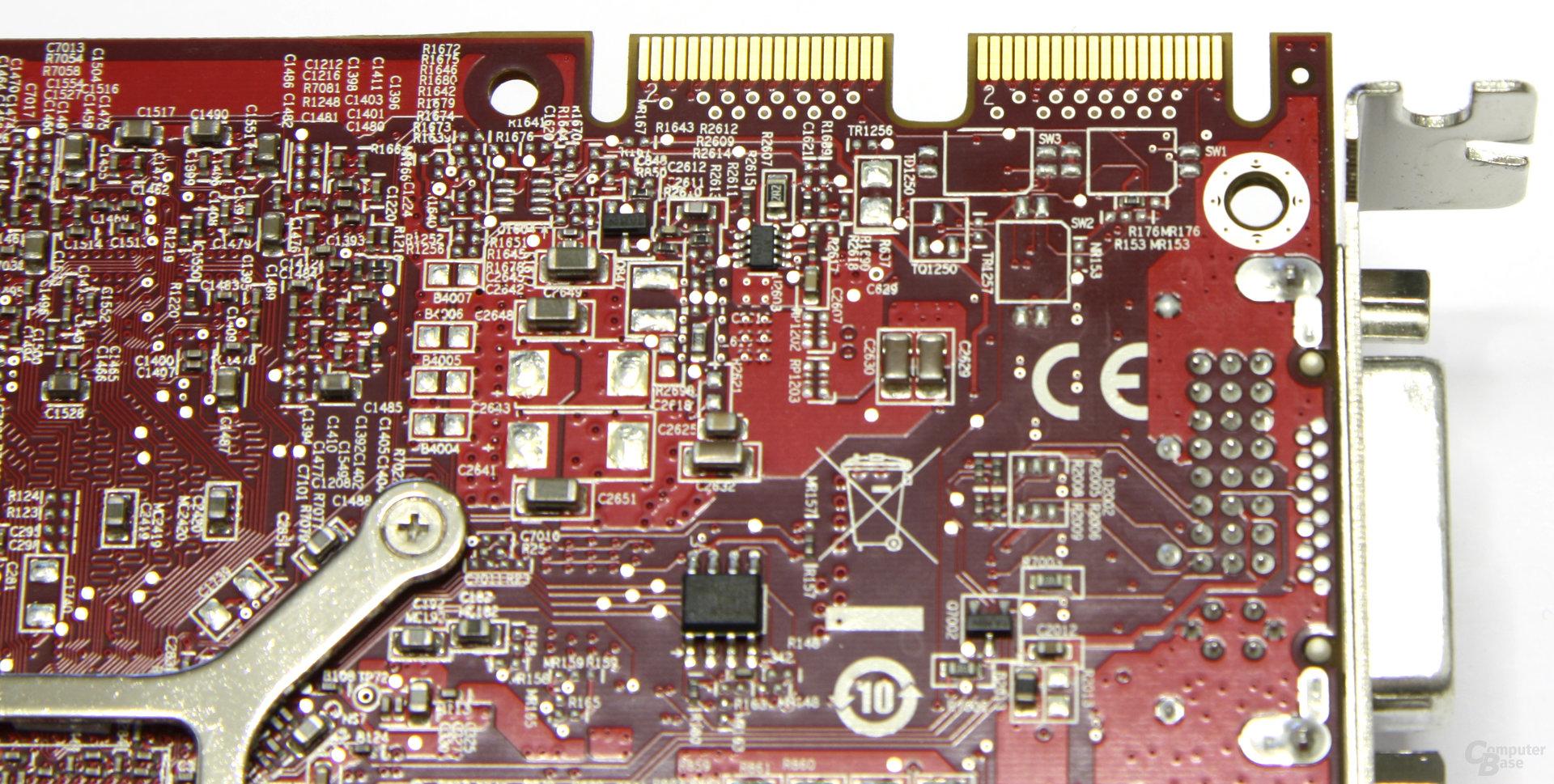 Radeon HD 4770 CF-Anschlüsse