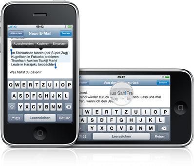 iPhone OS 3.0 - Tastatur