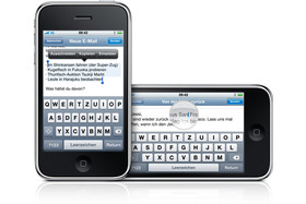 iPhone OS 3.0 - Tastatur