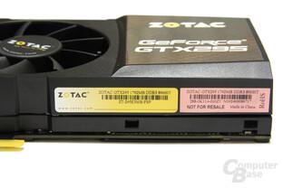 GeForce GTX 295 Aufkleber