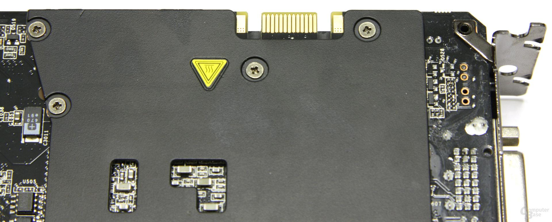 GeForce GTX 295 SLI-Anschluss