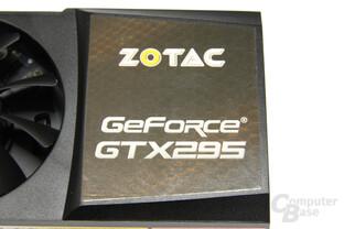 GeForce GTX 295 Schriftzug