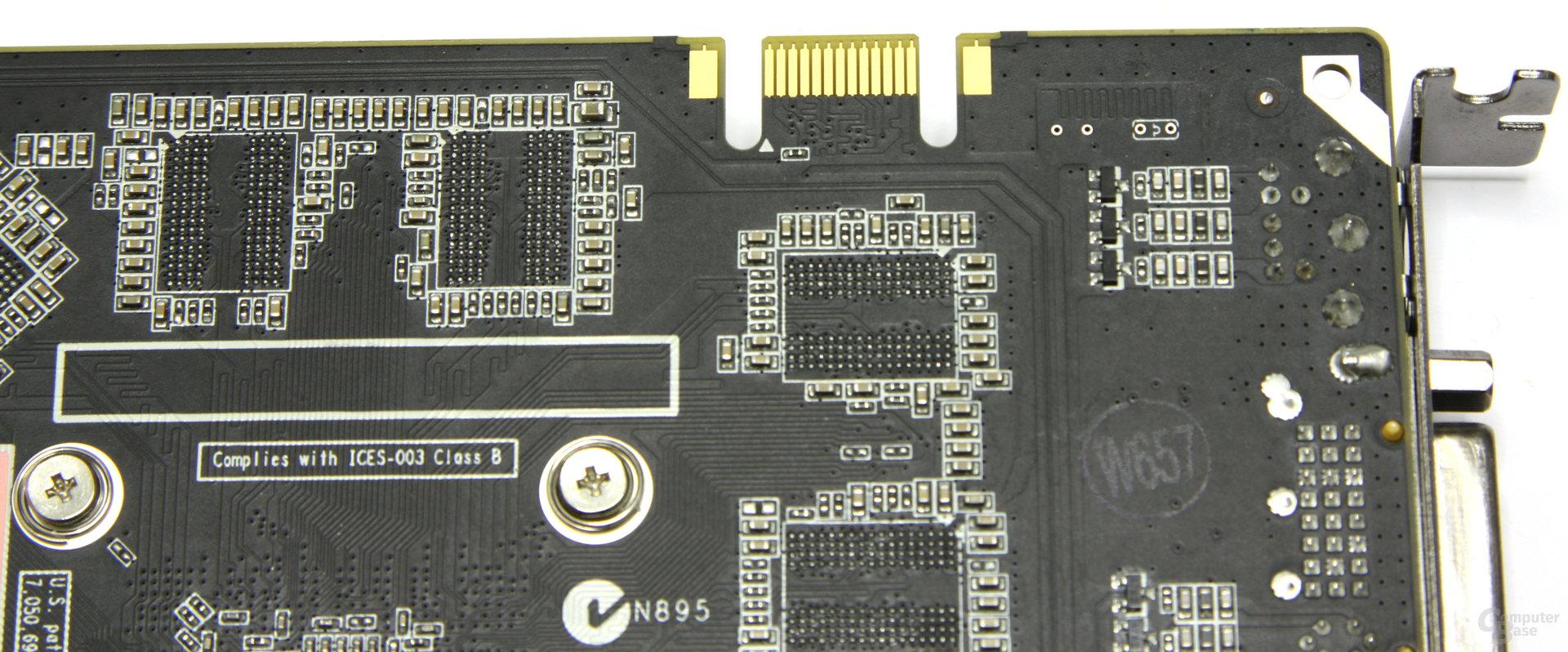 GeForce 9800 GT Eco SLI-Anschluss
