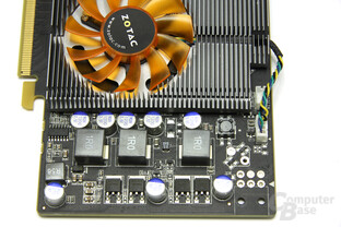 GeForce 9800 GT Eco Spannungswandler
