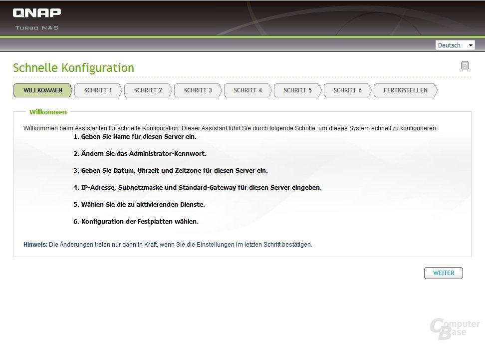 Web-Installation: Alternative zum QNAP Finder