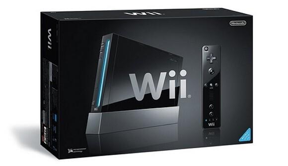 Schwarze Nintendo Wii