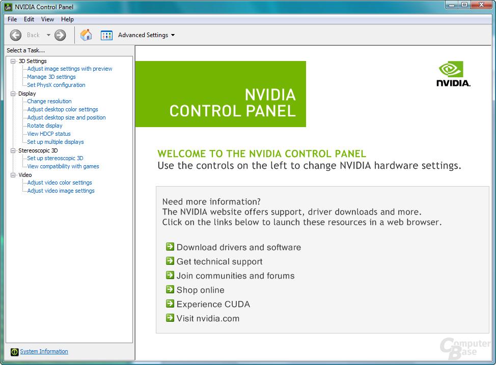 Nvidia GeForce 190.38