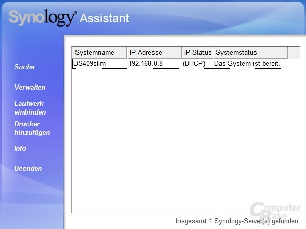 Synology Assistant 2.0