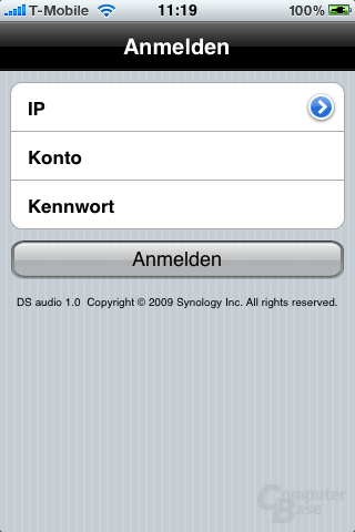 Synology DS Audio für iPhone und iPod touch