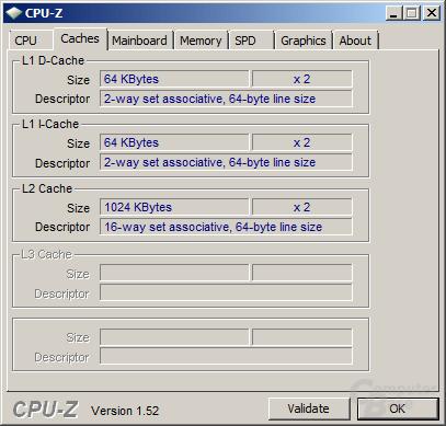 Cache des AMD Athlon II X2 250