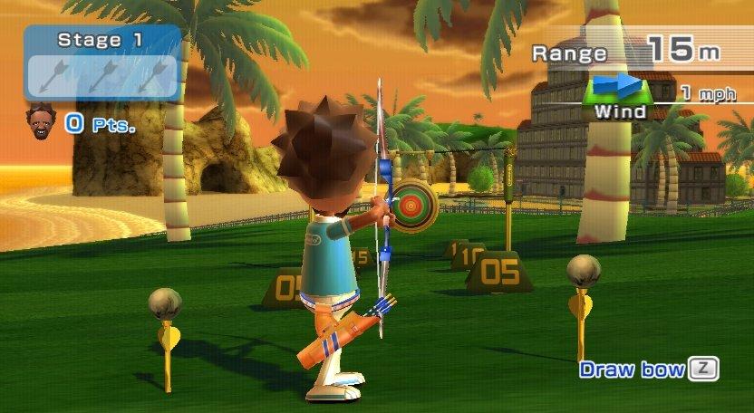 Wii Sports Resort - Bogenschießen