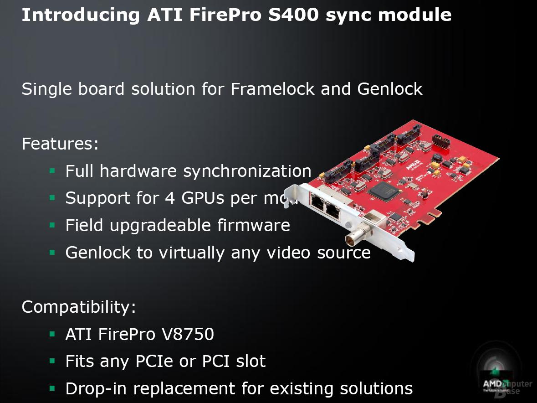 ATi FirePro V8750 und S400