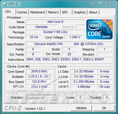 Intel Clarkdale in 32 nm