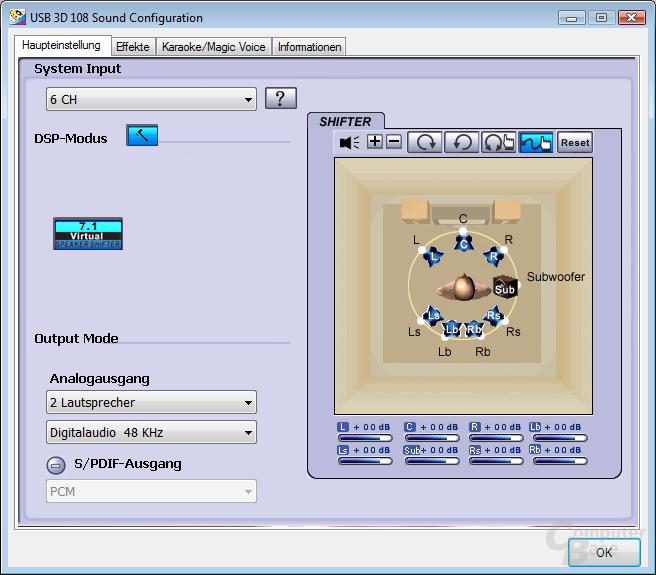 Software des eDimensional-Headsets