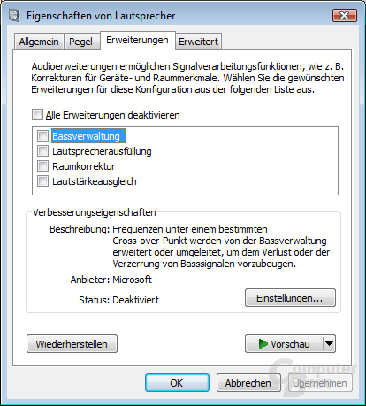 Windowssteuerung für das Razer Megalodon 7.1 Surround