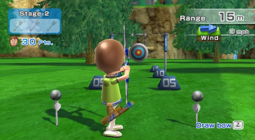 Wii Sports Resort - Bogenschießen