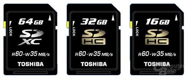 Toshiba SDXC/SDHC-Karten
