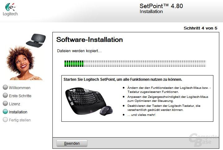 Logitech SetPoint Installation - Installation