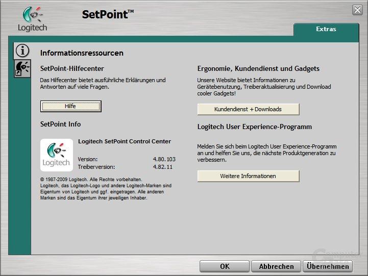 Logitech SetPoint Installation - SetPoint Info