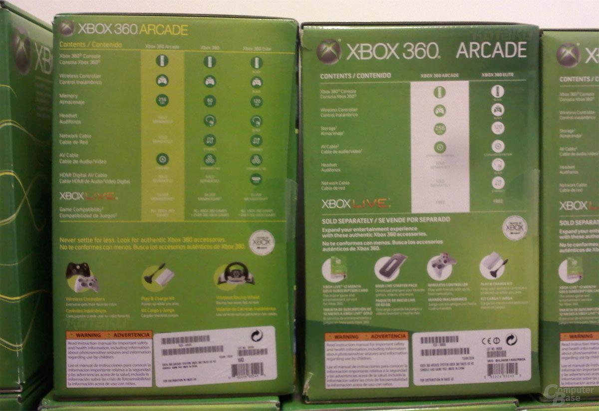 Neue Xbox-Verpackung bewirbt nur noch Arcade- und Elite-Version