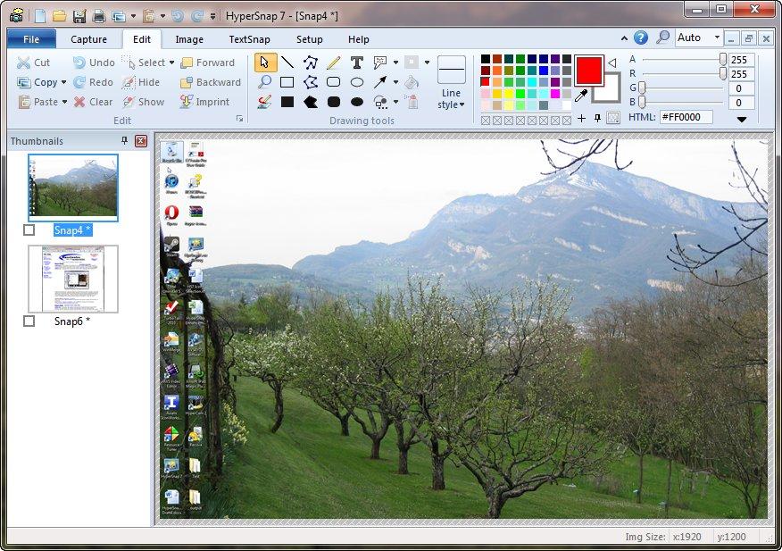 HyperSnap 7 on Windows 7