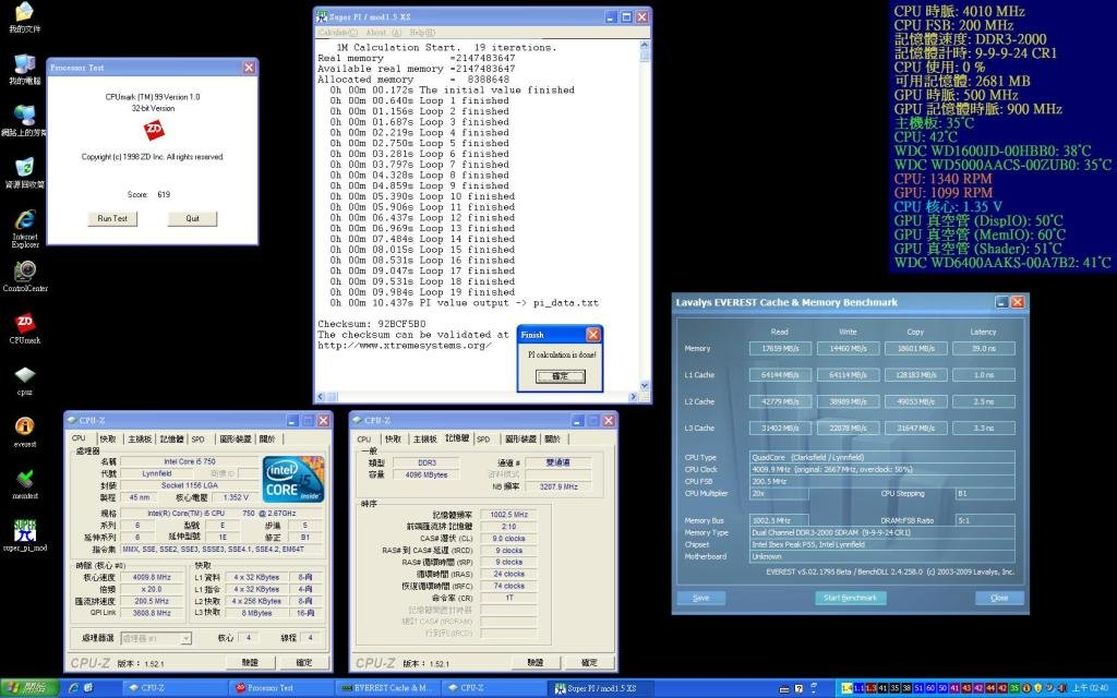 Core i5 750 Benchmarks