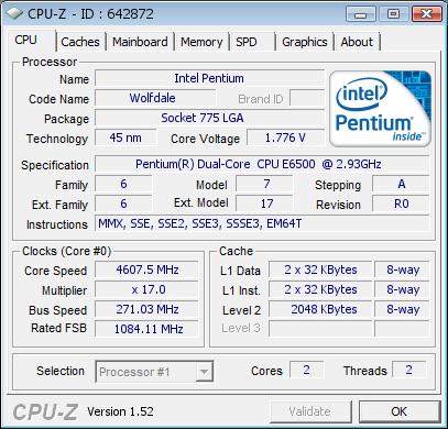 4,6 GHz mit einem Pentium E6500K