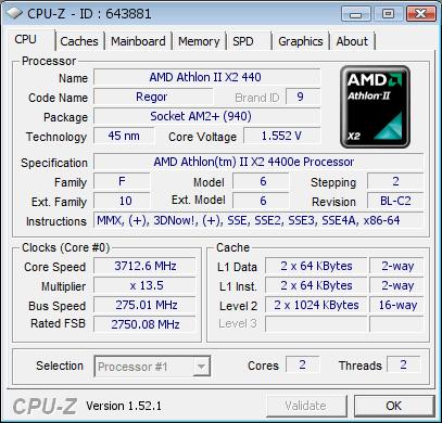 Sempron 140 zum Dual-Core freigeschaltet