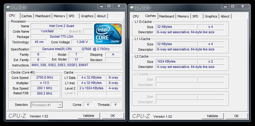 Details zum Core 2 Quad Q7600