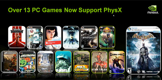 Spiele mit PhysX