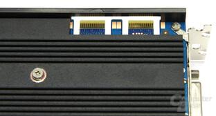 Black GTS 250 SLI-Anschlüsse