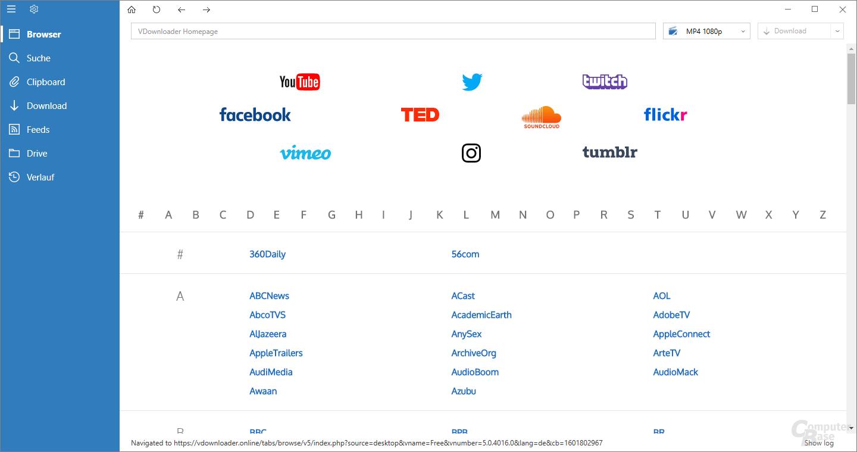 VDownloader – Browser
