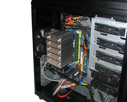 ASUS TA-U21 – Rückseite mit Hardware