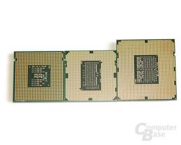 Größenvergleich zwischen LGA775, 1156 und 1366