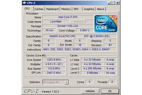 Core i7-870 im Idle
