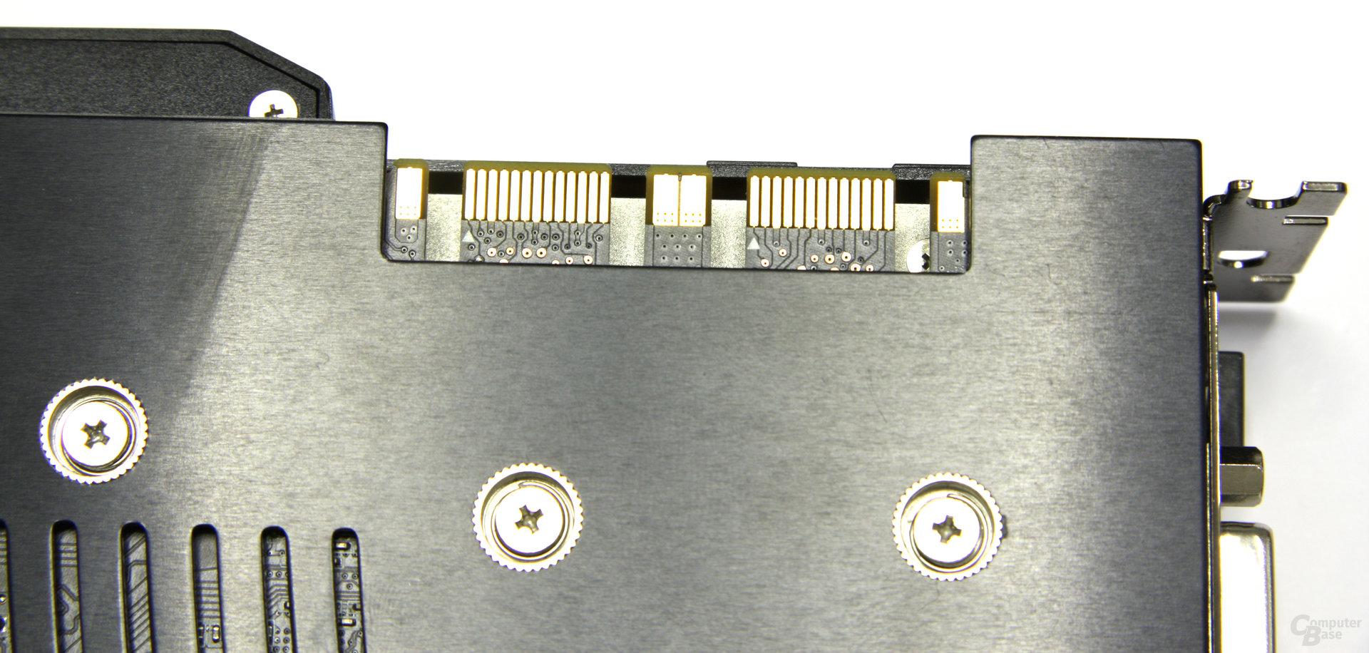 GeForce GTX 285 Matrix SLI-Anschlüsse