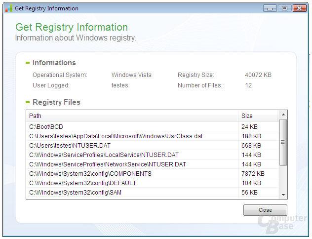 Registry Informations