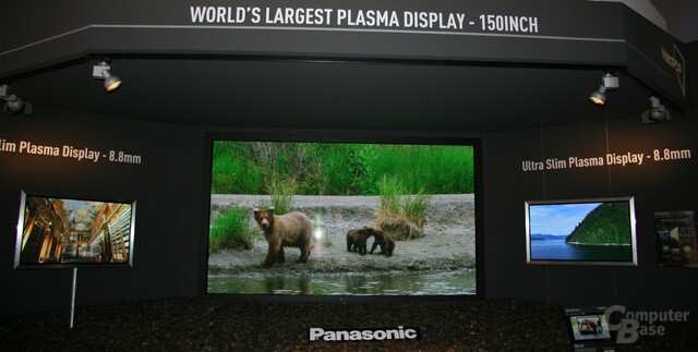 "Panasonic ""Worlds Largest"" Plasma-Display mit 150 Zoll"