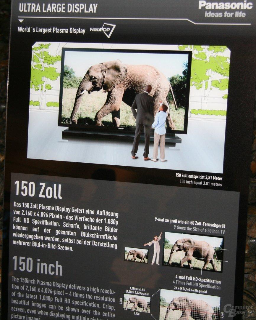 "Panasonic ""Worlds Largest"" Plasma-Display mit 150 Zoll"