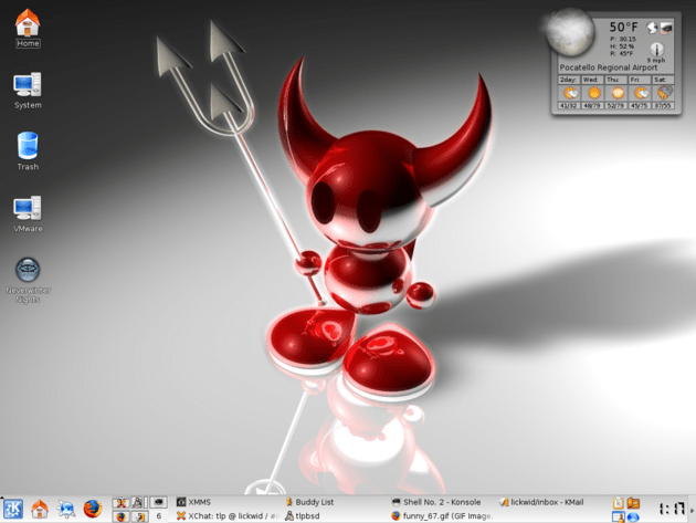 FreeBSD/KDE desktop at one point